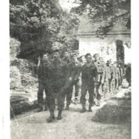 1 Officers attending the funeral of DF Cavaye . Died on 21.06.1941 in a German Hospital, was a POW at Oflag_VB.  is  in copyright