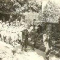 The funeral of Lieutenant Derrick Fred Cavaye Oflag VB died as POW  of the 4th Battalion The Queen s Own Cameron Highlanders 1941. Copyright Mrs Marjory Wood. 2.jpg by Mrs Marjory Wood is  in copyright